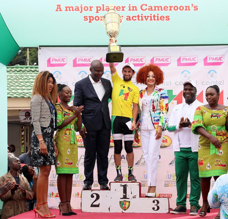 First Lady Rewards Cyclists at 19th Chantal BIYA Grand Prix