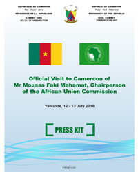 Press Release on the Official Visit to Cameroon of Mr Moussa Faki Mahamat, Chairperson of the African Union Commission.