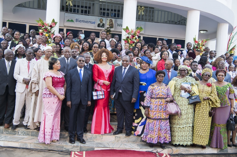 Mrs Chantal BIYA offers Christmas Gifts at CHRACERH
