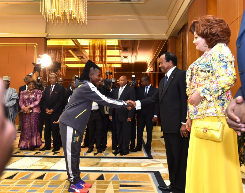 Reception in honour of the Indomitable Lionesses at the Unity Palace