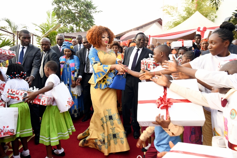 Christmas Tree Lighting at Chantal BIYA Foundation