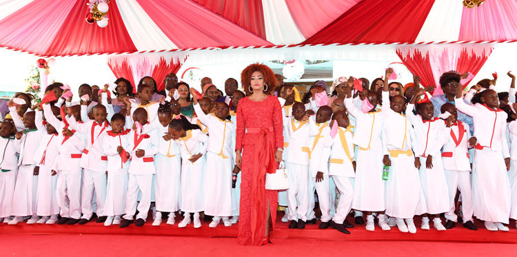 Pupils of 'Les Coccinelles' Receive Christmas Gifts from Mrs Chantal BIYA