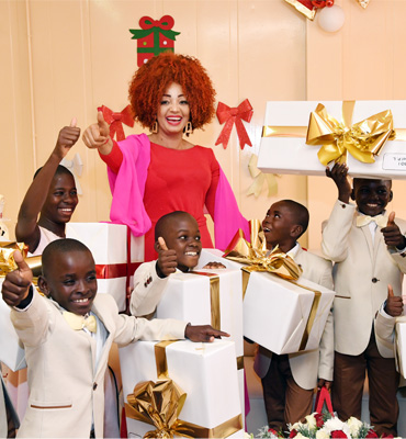 Multiple Christmas Gifts Shared at Chantal BIYA Foundation