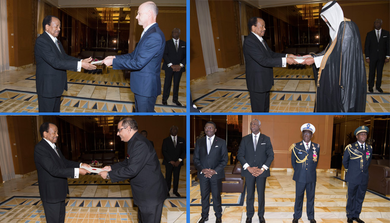 French, Saudi and Indian Diplomats Present Letters of Credence