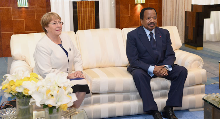 President BIYA Holds Talks with UN High Commissioner for Human Rights