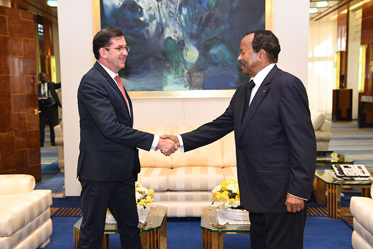 French Ambassador Holds Goodbye Audience with President Paul BIYA