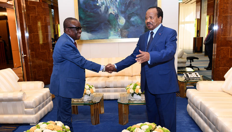 Ghanaian Emissary Delivers Sealed Envelope to President Paul BIYA