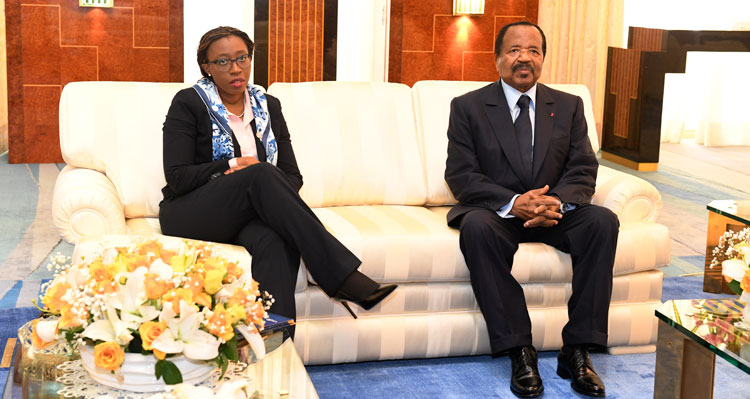 President BIYA receives Executive Secretary of the UN Economic Commission for Africa