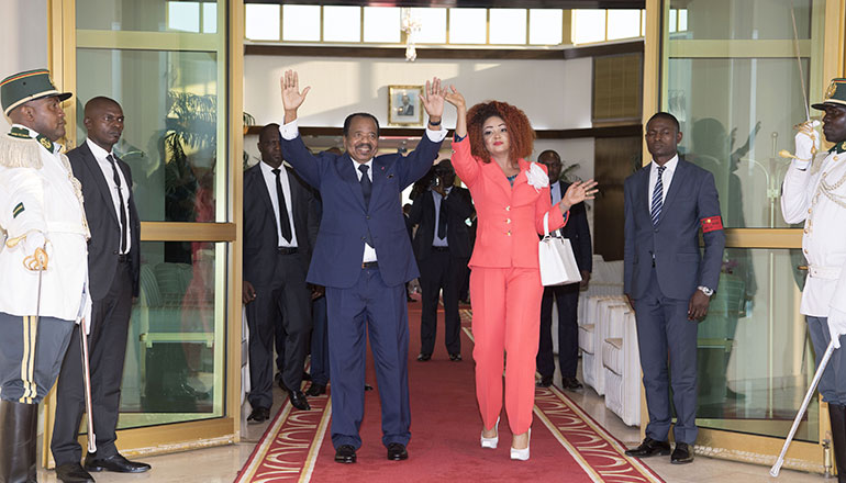 Presidential Couple Receives Grandiose Homecoming in Yaounde