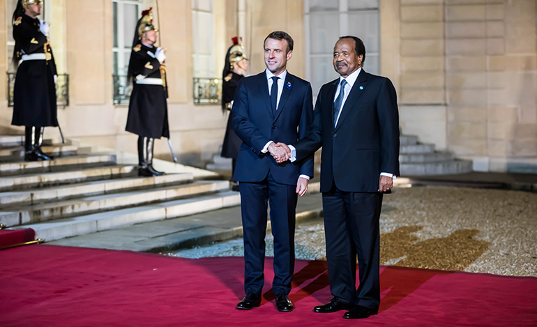 President Paul BIYA at the Elysee Palace for Peace Diner
