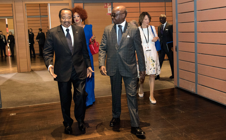 Presidential Couple Attends Opening Ceremony of Global Fund's 6th Replenishment Conference