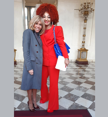 Paris Peace Forum: First Lady Chantal BIYA attends Working Lunch with Brigitte MACRON