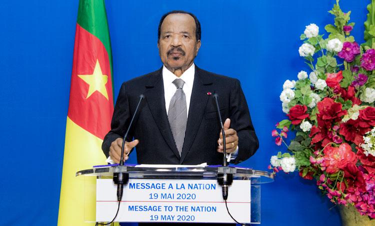 Message du Chef de l'Etat à la Nation à la veille de la Fête du 20 Mai 2020