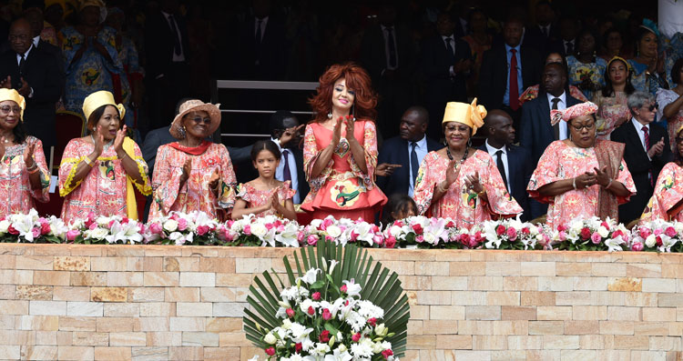 Un grand moment de communion avec Madame Chantal BIYA - JIF 2020