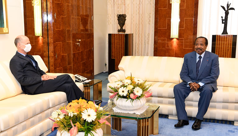 President Paul BIYA, French Ambassador Discuss Fight against Coronavirus