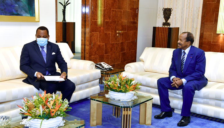 Congolese Minister of Foreign Affairs at Unity Palace