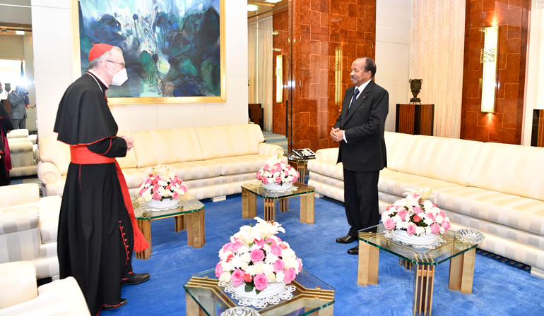 President Paul BIYA, Cardinal Parolin Discuss Reconciliation and Peace in Cameroon