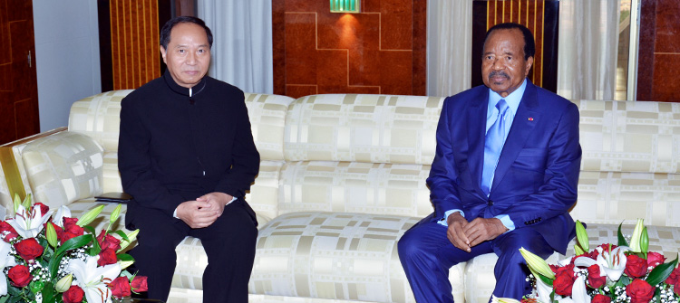 President Paul BIYA decorates Outgoing Chinese Ambassador