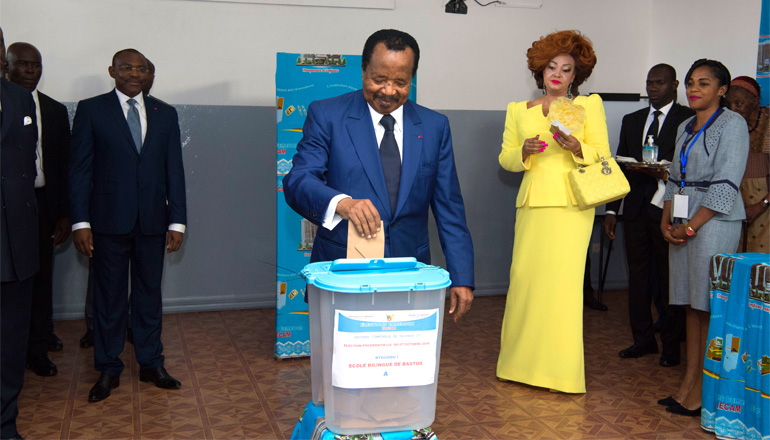 President BIYA Votes, Congratulates Electorate for Peaceful Campaigns