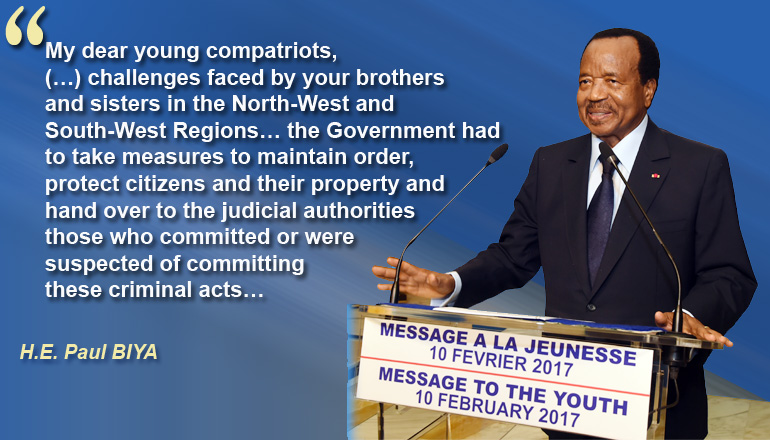 Message to the Youth, 10 February 2017