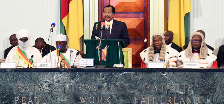 Inaugural address by H.E. Paul BIYA, President of the Republic of Cameroon, on the occasion of the swearing-in ceremony - 6 November 2018.