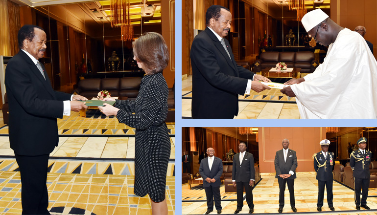 Brazilian and Senegalese Ambassadors Present Letters of Credence to President Paul BIYA