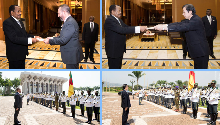 Spanish and Japanese Ambassadors to Cameroon Present Credentials to President Paul BIYA