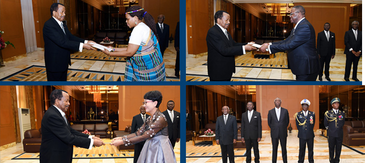 Three Foreign Envoys Present Letters of Credence to President Paul BIYA