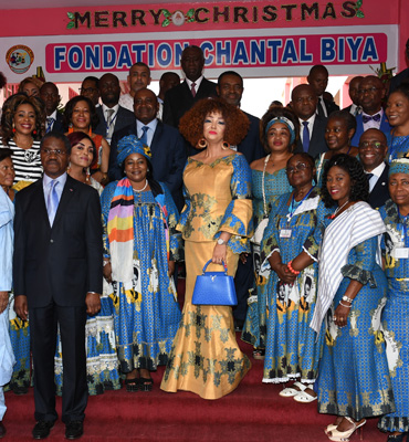 Arbre de Noël à la Fondation Chantal BIYA