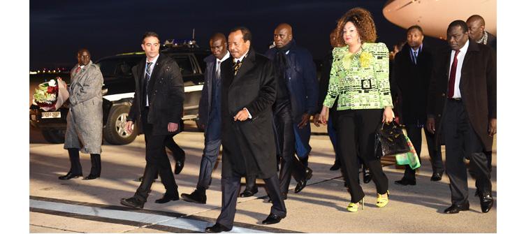Le Président Paul BIYA est arrivé à Paris pour la COP21
