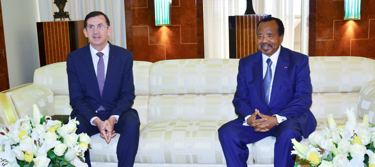 President BIYA, French Ambassador Discuss Paris Peace Forum