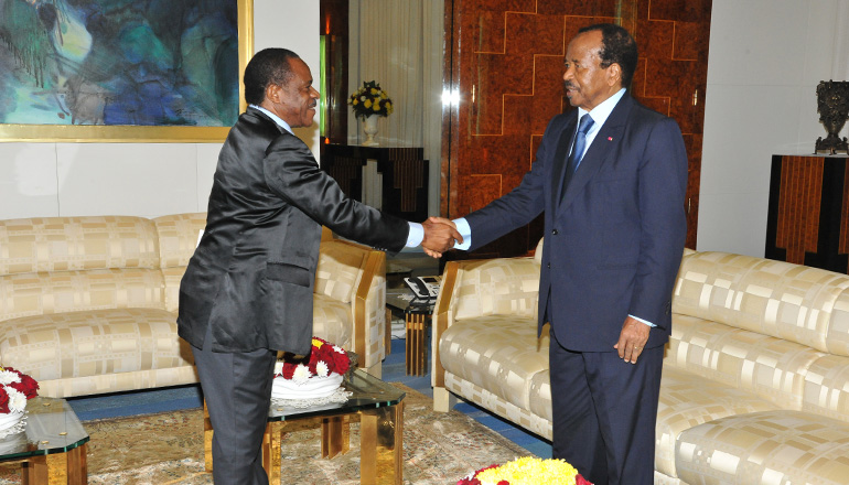 President Paul BIYA receives Sealed Envelope from Equatorial Guinea's Leader