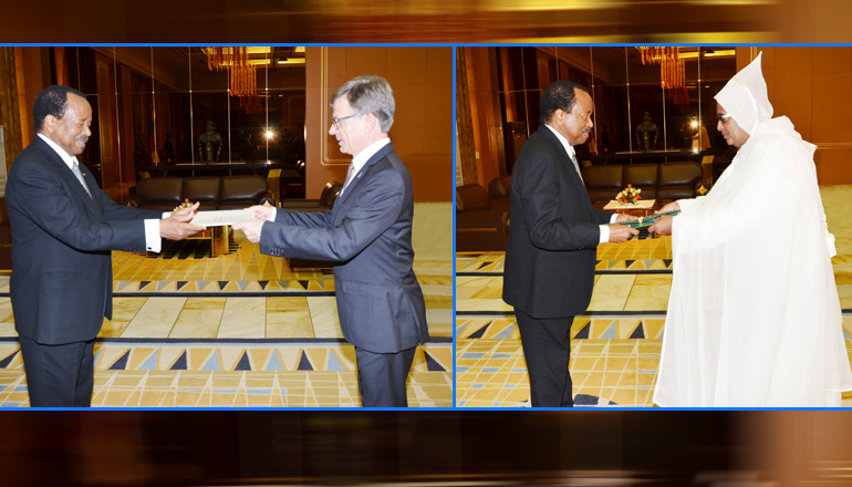 German and Moroccan Ambassadors Present Letters of Credence to President Paul BIYA
