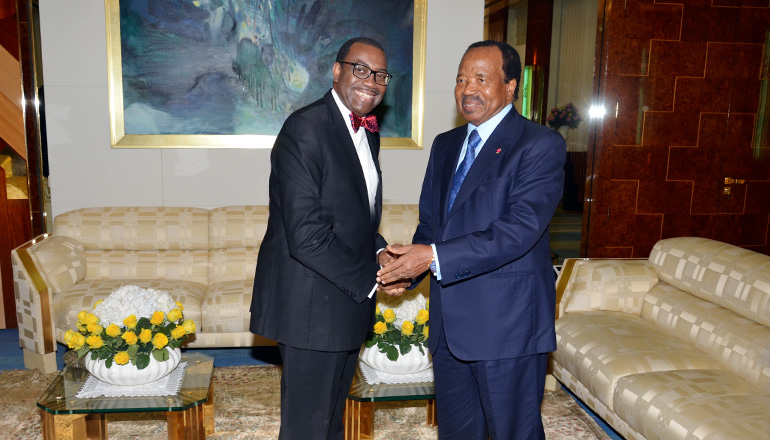 AfDB Boss Hails President Paul BIYA's Leadership in Africa