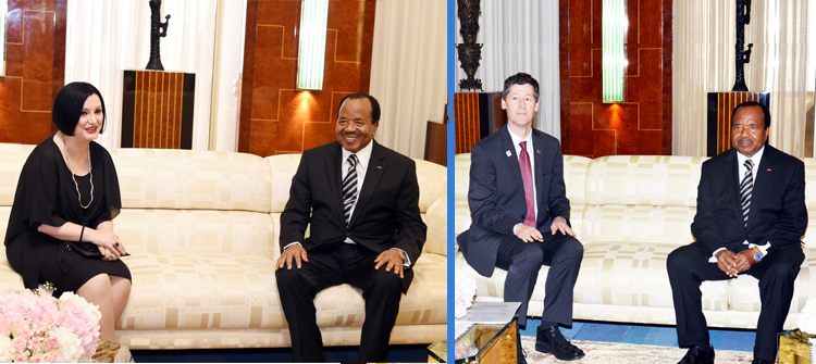 Italian Ambassador, Canadian High Commissioner Bid Farewell to President Paul BIYA