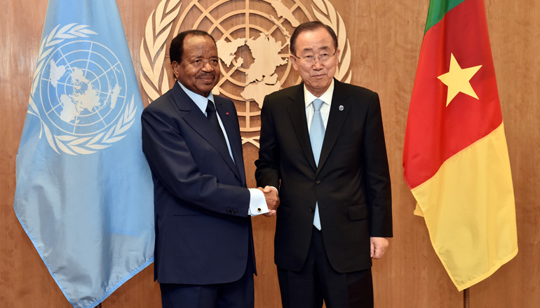 President Paul BIYA Recalls Friendship with Mr. BAN KI-MOON