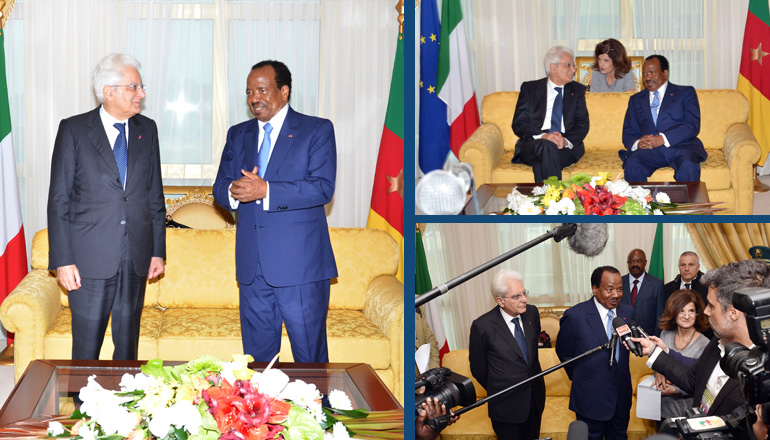 Presidents BIYA and MATTARELLA reaffirm Cameroon – Italy cooperation