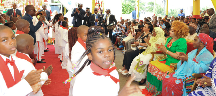 Christmas Break: Mrs Chantal BIYA encourages Coccinelles Pupils