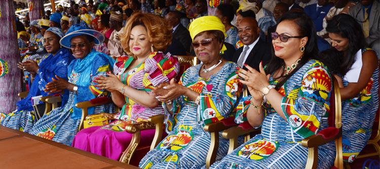 08 mars 2017: Chantal BIYA avec les femmes