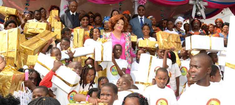 Mrs Chantal BIYA Hands Christmas Gifts to Over 1,000 Underprivileged Children