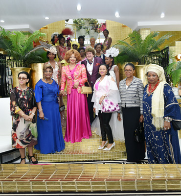 Madame Chantal BIYA à l'inauguration du showroom ''Chic Design'' à Yaoundé