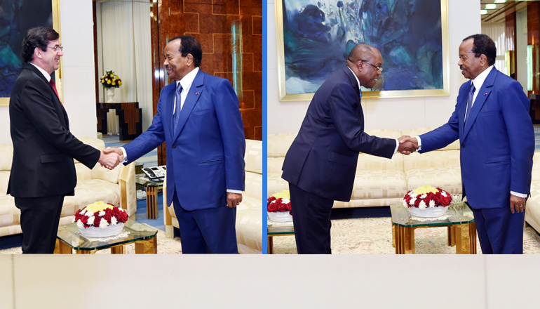 French Ambassador and Angolan Foreign Affairs Minister at the Unity Palace