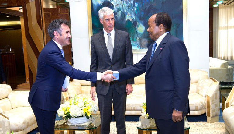 President Paul BIYA Discusses Energy, Transport and Health with General Electric Africa Boss