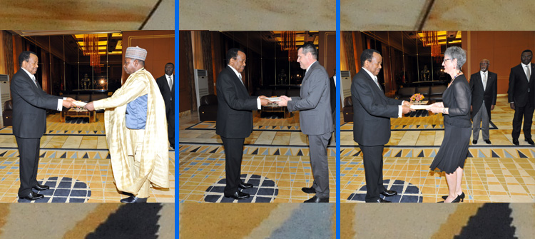 Three New Diplomats Present Letters of Credence at Unity Palace