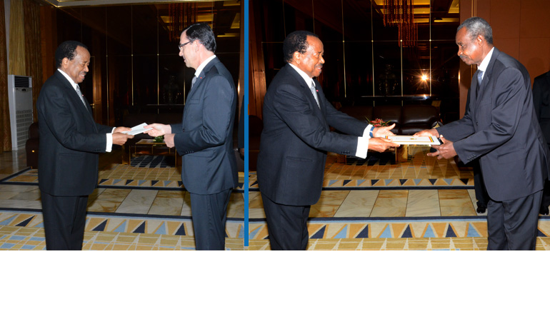 New French and Chadian Ambassadors present credentials to President Paul BIYA