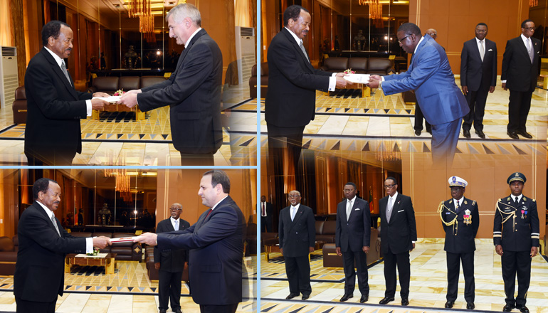 Diplomatic ceremonies for three new Ambassadors