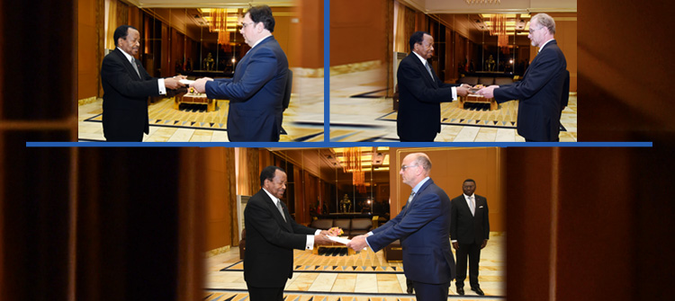 Italian, European Union Ambassadors and British High Commissioner honoured at Unity Palace