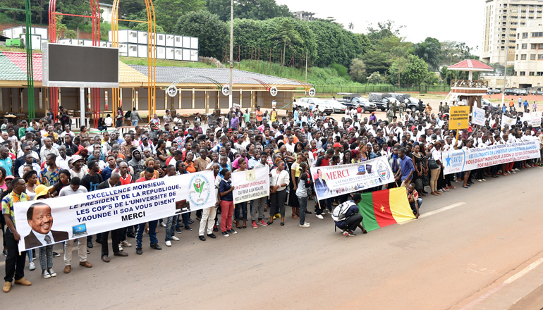E-National Higher Education : Students say thank you to President Paul BIYA