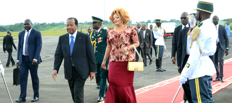 Presidential Couple returns from Strategic CEMAC summit in Ndjamena
