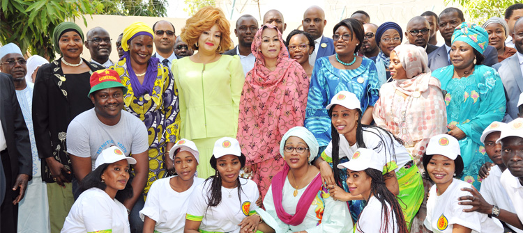 Cameroon's First Lady at 'Foundation Grand Cœur' in Ndjamena